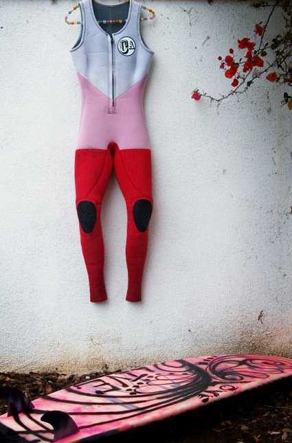 Red pink white candy wetsuits.: Wetsuits Swimsuits, Surfboards Wetsuits, Summer, Candy Wetsuits, Surfergirl Girlswetsuit, Beach, Surf Style, Coloured Wetsuits