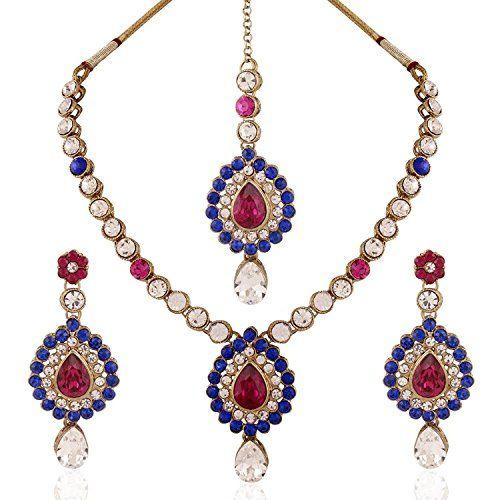 Indian Bollywood Elegant Pink & Blue Stone Kundan Wedding... https://www.amazon.com/dp/B06XRN4RY3/ref=cm_sw_r_pi_dp_x_3JH1ybMCKKB86