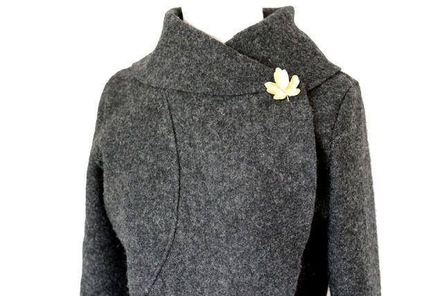 Kurzjacken - Walk Wolle Bolero Jacke,Anthrazit Gr.XS-L - ein Designerstück von Rosenrot-Modedesign bei DaWanda