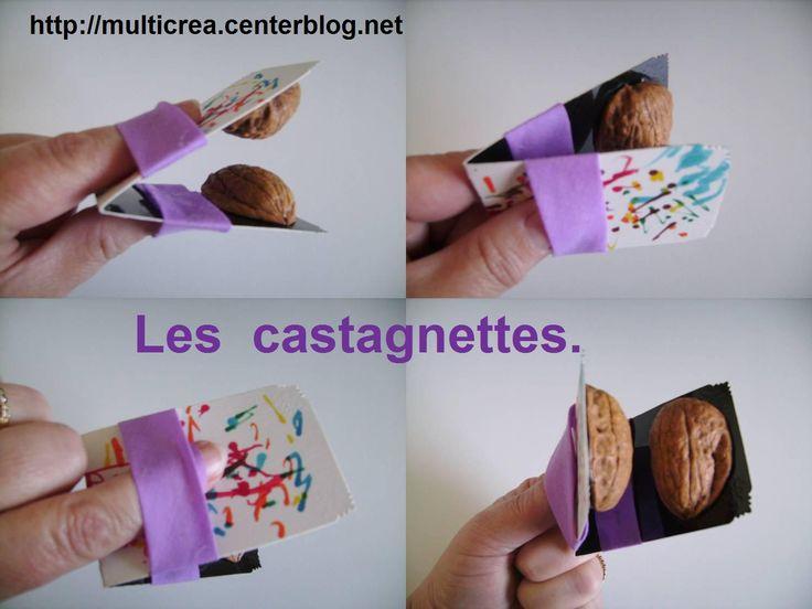 diy castagnettes