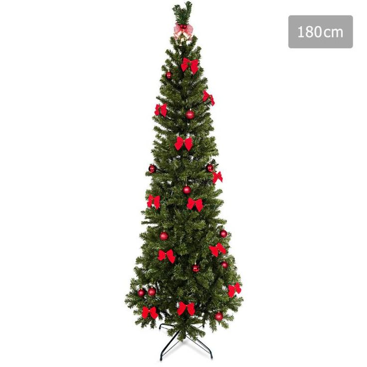 Christmas Tree with Ornaments in Green PVC - 1.8m | Buy Christmas Trees