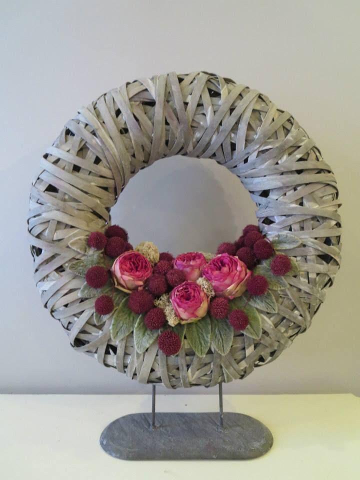 couronne avec fleurs lyophilises - Fleurs Lyophilises Mariage