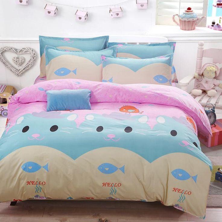 New Origami Cranes Bedding Set Polyester Bed Sheet Cozy Duvet Cover Sets Bedspread Queen/Full/Twin Size Jogo de Cama