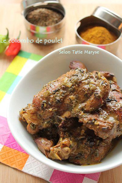 recette créole colombo de poulet