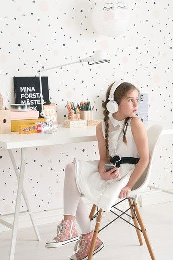 Papel pintado original para habitaci n infantil en tonos for Habitacion infantil original