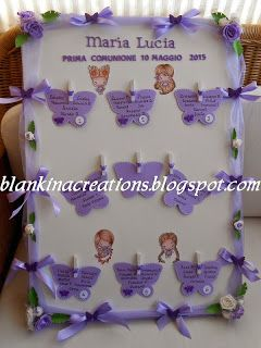 Blankina creations: Tablaux prima comunione con fatine di The Greeting Farm