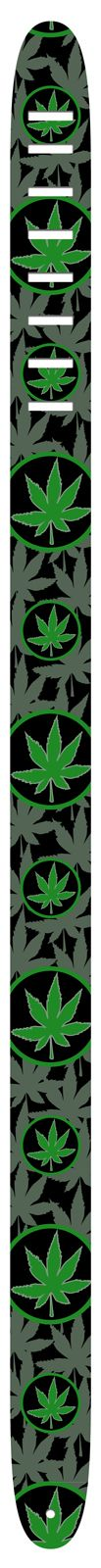"""Official Licensed Product - This 2"""" High Res Symbols Guitar Strap Is Made Up Of A High Resolution Image, Created By The Perri's Graphic Team. These crisp and clear images are printed on high quality leather.  Made in Canada"""