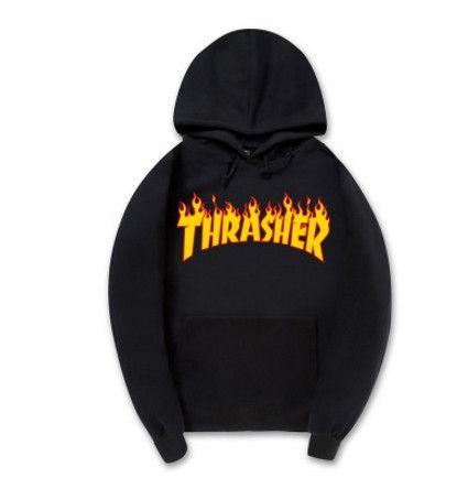 Fashion pink Mens Thrasher Hoodie Sportswear Fleece Sweatshirt Autumn Winter Skateboard Thrasher Tracksuit Pullover Hoodies