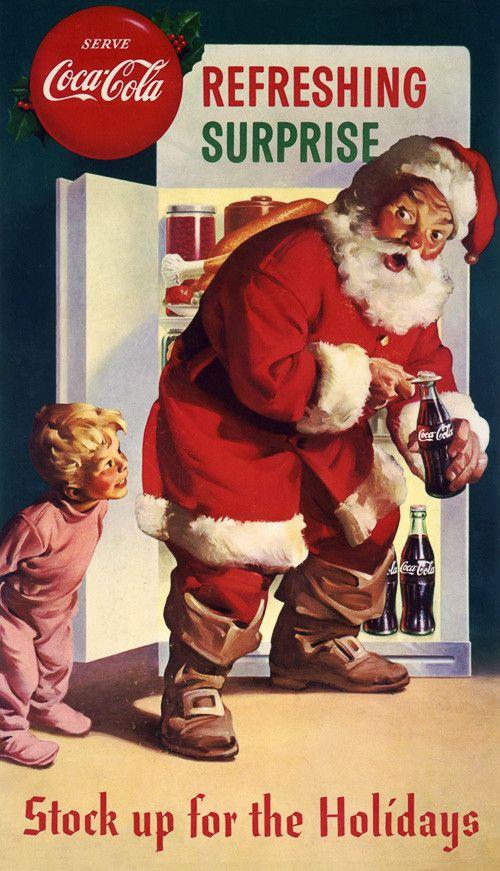 Pop Christmas. Serve Coca-Cola. Refreshing Surprise. – Vintagraph