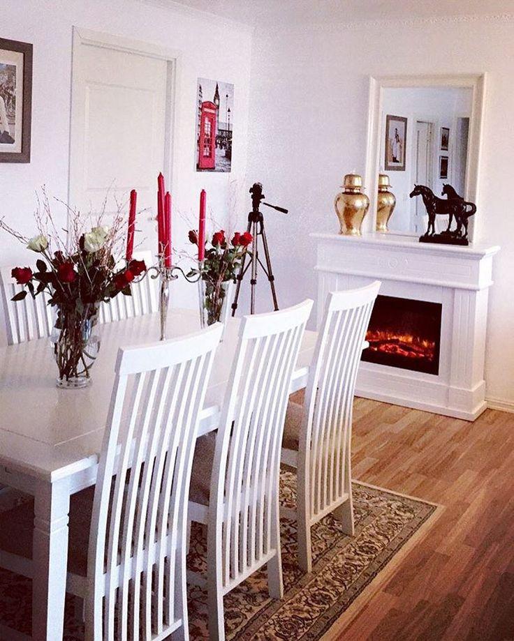 #home #homedecor #decoration #decor #interior #interiør #elektriskpeis #vase #flowers #blommor #homesweethome #winter #vinter #peiskos #ikea #skeidar #norway #norge #kurdistan #svarthest #blackhorse