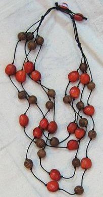 #Halskette mit #Huayruros #Samen, 4 fach