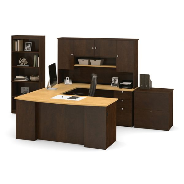 Bestar Manhattan Lateral File/ Bookcase U Shaped Workstation Desk By Bestar