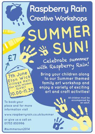 #Summer Sun #Workshop on #Saturday 7th #June 2014 in #EtonWick #Windsor