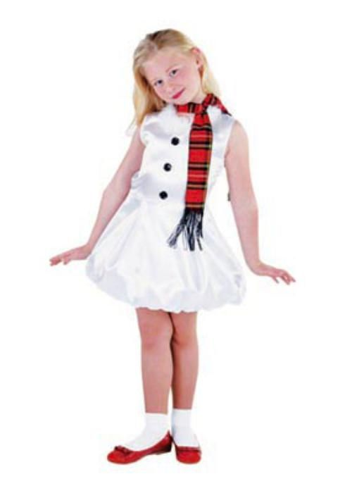 Snow girl kids with sash - Las Fiestas