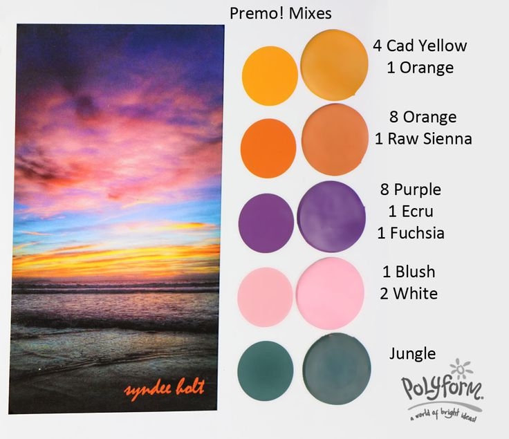 93 best DIY Color Mixing Charts images on Pinterest | Clay crafts ...