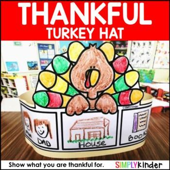 Free Thanksgiving Hat - Thankful Hat •••••••••••••••••••••••••••••••••••••••••••••••••••••••••••••••••••••••••••••••••••••• YOU MAY LIKE THESE OTHER FALL RESOURCES: Thanksgiving Interactive Story with Turkey Craft Thanksgiving No Prep Printables Turkey Nonfiction Readers with Activities Turkey Sight Word Snap Cube Centers