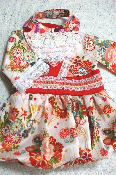 女の子ベビー ひな祭り和柄ワンピース&レーススタイ-手作り子供服の通販店 神の手
