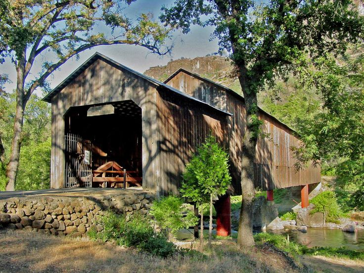 Hony Run Covered Bridge  - The bridge is on  the Skyway, between Chico and Paradise California