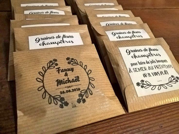 Cadeau invités mariage, graines à semer, sachet de graines invités mariage