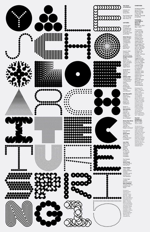 garadinervi: Jessica Svendsen - Michael Bierut Yale School of Architecture Spring 2015 / link to a previous post / Tagged: graphic design poster Jessica Svendsen michael bierut school wogd 2010s
