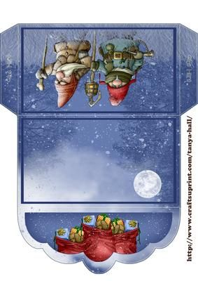 Winter Gnome Money Wallet