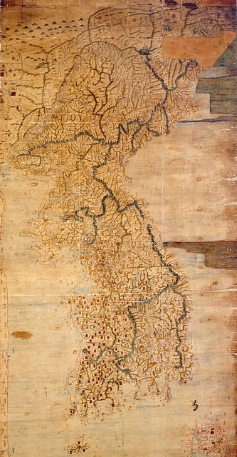 An 18th century map of Korea. Pretty accurate (National Museum of Korea)