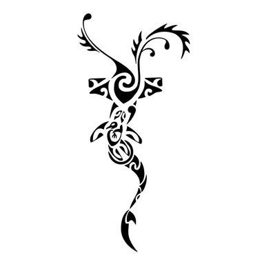 Maori symbol of determination tattoo