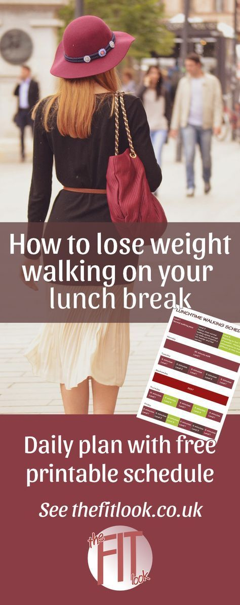 How to lose weight by walking on your lunch hour | walking is a great way to exercise because it's something that we can do without any special equipment or preparation. To lose weight by walking, you should aim to do at least a couple of hours a week. Follow this lunch time walking program to get in 2 hours over the course of 4 days.