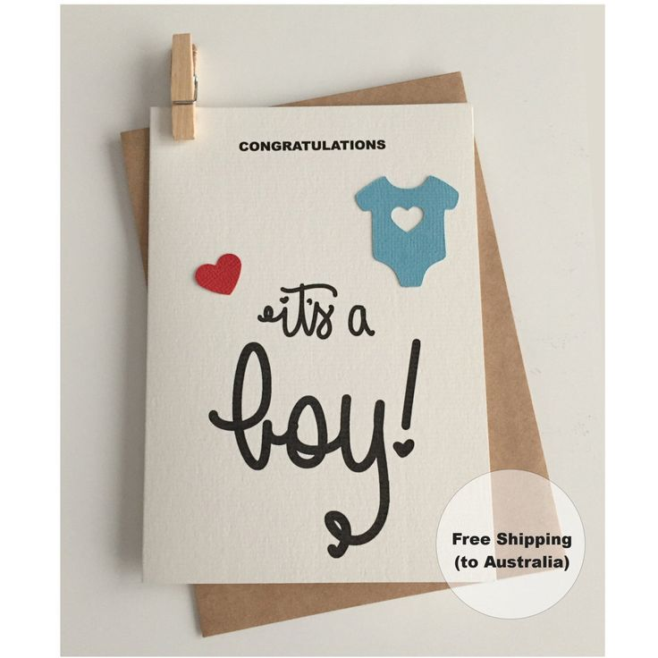 It's a Boy Card  – Congratulations Baby Boy Card – Baby Boy Card – Onesie Boy Card – New Baby Boy Card by SweetCCDesign on Etsy https://www.etsy.com/au/listing/513035521/its-a-boy-card-congratulations-baby-boy