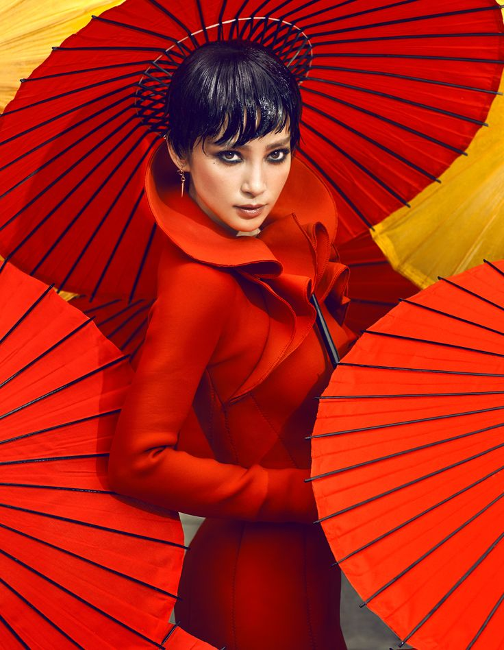 Li Bingbing by Chen Man for Vogue China October 2012: Li Bingbing, Red, October 2012, Color, China October, Chenman, Chen Man, Fashion Photography, Vogue China