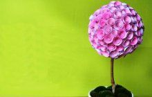 Как сделать топиарий своими руками из искусственных цветов