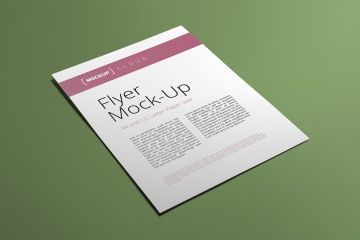 This beautiful flyer mockup of premium quality will save your time and will make your brand look amazing. Well-organized PSD files are easy to customize via Smart Objects. This free scene is part of t...