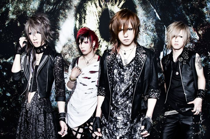 GALEYD! It's a pretty new band but they are sooooo awesome! Their music is great ^-^ To bad my fav member, guitarist Meku (on left), is leaving the band T_T #visualkei #jrock