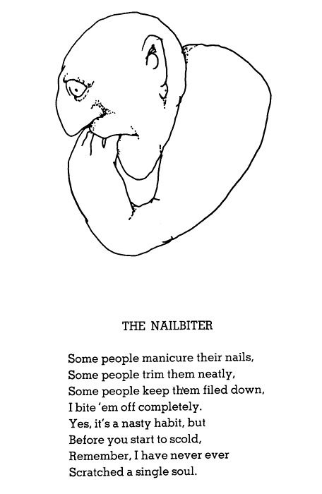 shel silverstein poem - The Nailbiter