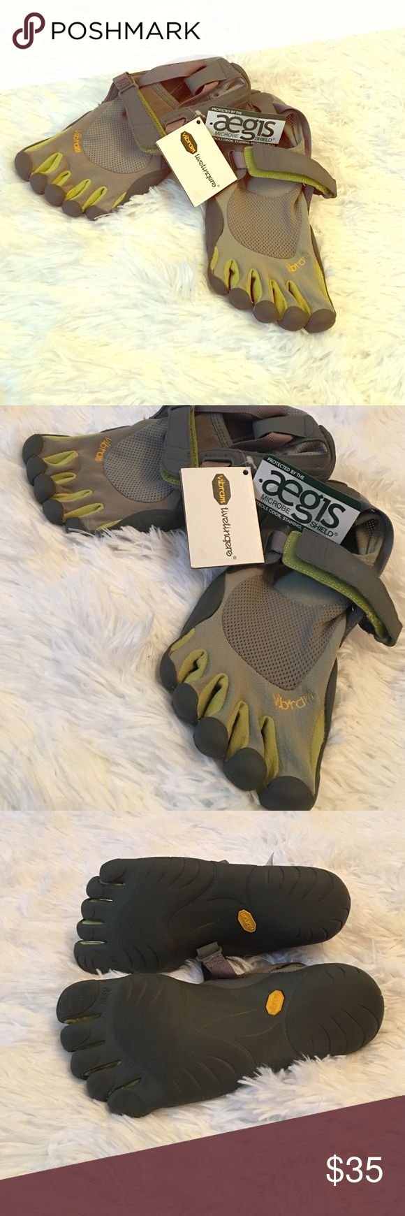 Vibram toe shoes!! NWT!! New with tag VIBRAM size M39 toe shoes! Gray with green! Bundle with other items for instant discounts Patagonia Shoes