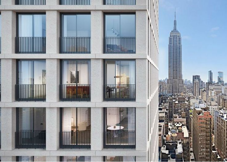 Images of David Chipperfield's first residential tower in Manhattan have been released to entice buyers into purchasing units starting at $2 million