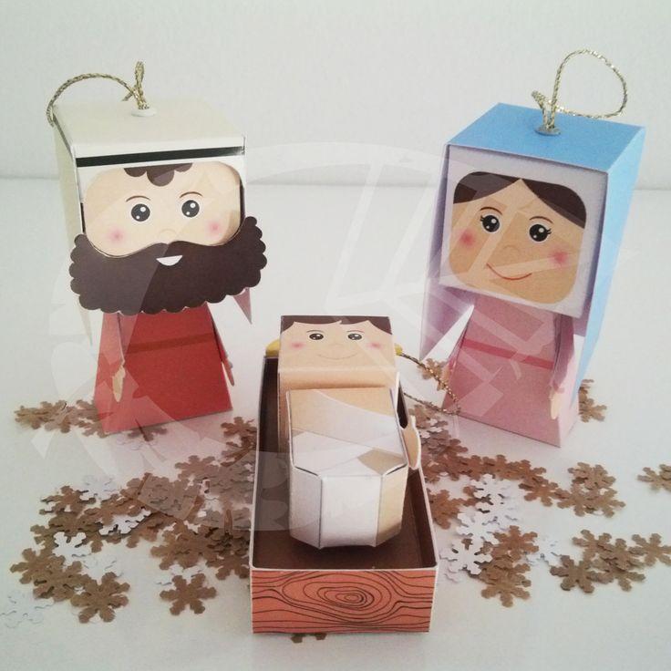 Belén - Adornos para el árbol de #Navidad #Christmas