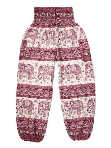 Bandoola Maroon Elephant Harem Pants by The Elephant Pants