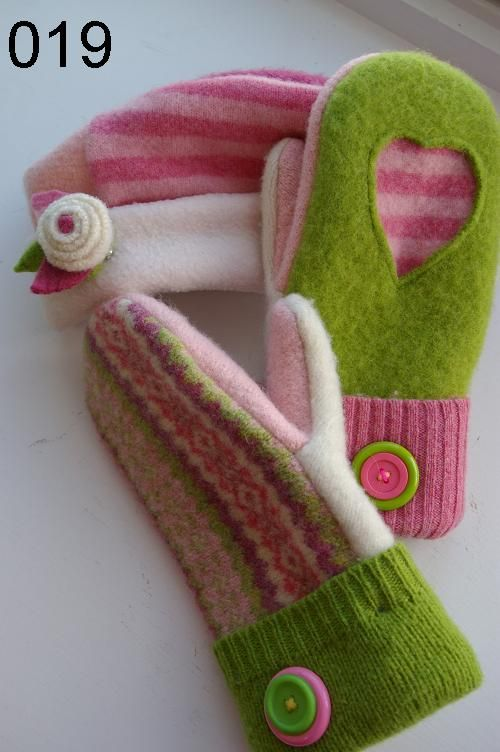 Hats, mittens, scarves and pins - handmade by three teachers on Mackinac Island.