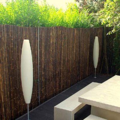 Clôture en bambou noir naturel DOTU - 2,50xH2m, Canisse en bambou