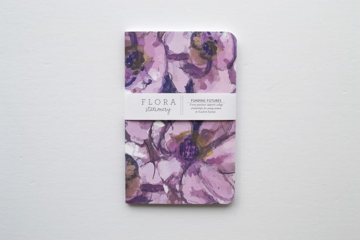 This softcover notebook features a vibrant watercolor design, painted by a young art student from Pristina, Kosovo. Every sale supports college scholarships for deserving young women in Eastern Europe.