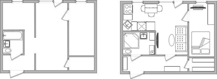 Перепланировка хрущевка 2-х комнатная
