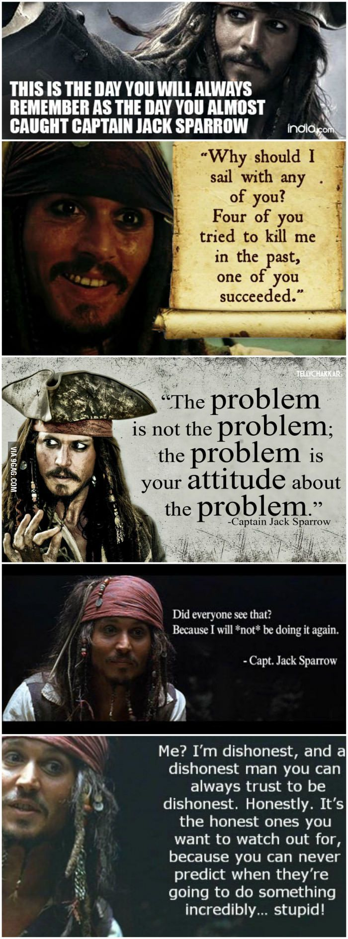 Some awesome Captain Jack Sparrow quotes to brighten your day! - 9GAG