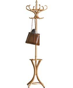 Wooden Hat and Coat Stand - Pine.