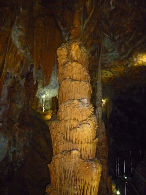 A stalagtite in the Orient Cave at Jenolan Caves, thousands of years in the making. #Australia #caves #travel