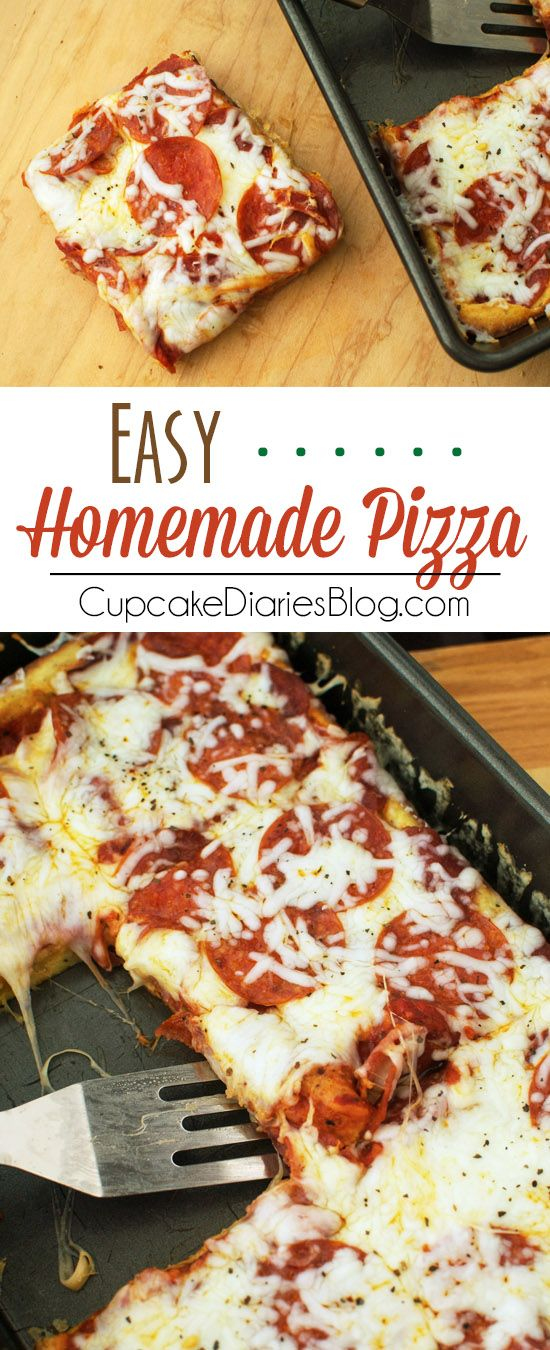 Easy Homemade Pizza - This pizza is so easy to make and a sure hit for your family. This is a fun dish to involve the kids in making, too.