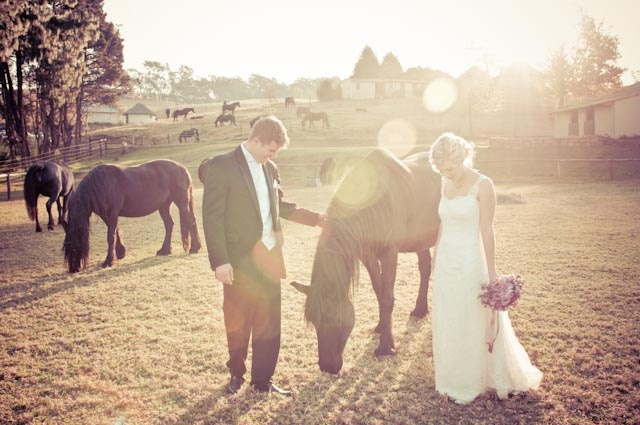 Farm-style wedding photo <3