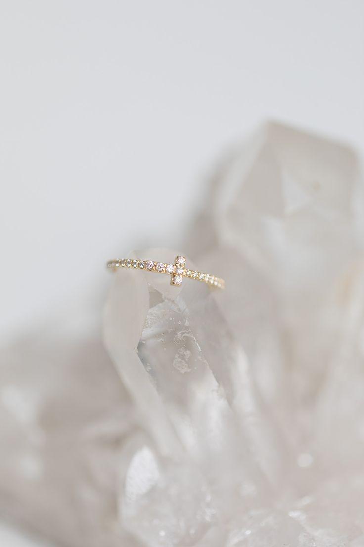 Tiffany and Co. / Fine Jewellery / Petite Diamonds / Engagement Ring / Gold Jewelry / Wedding Style Inspiration / The LANE #GoldJewelleryBridal #fineringsjewelry #fineweddingrings