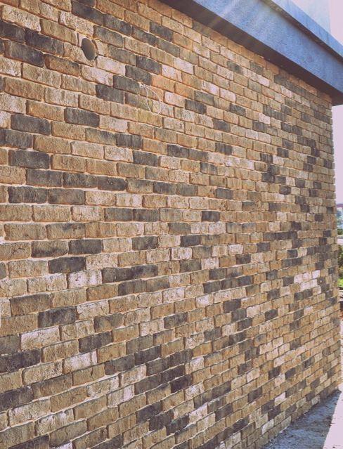 London Town Brick Slips on an external wall