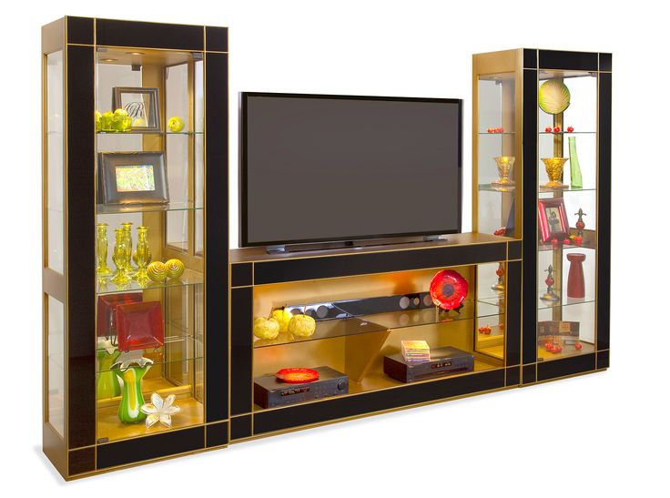 Altair II Mirrored Curio Entertainment Wall   Philip Reinisch   Home  Gallery Stores. 1000  images about Entertainment Centers We Love on Pinterest